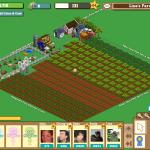 Eine weit ausgebaute Farm