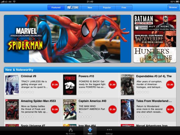 Comics auf dem iPad