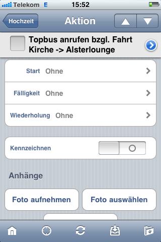 OmniFocus auf dem iPhone