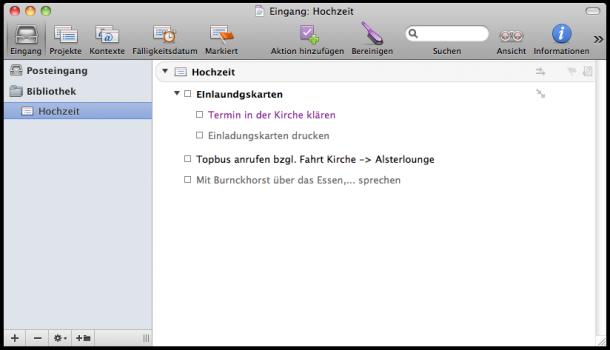Omnifocus auf dem Mac