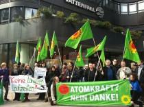 Anti Atomkraft Demo in Hamburg vor Vattenfall