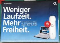 o2 Werbung mit weniger Laufzeit.