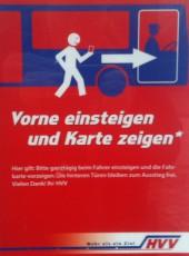 HVV in Hamburg - Vorne Einsteigen in allen Bussen