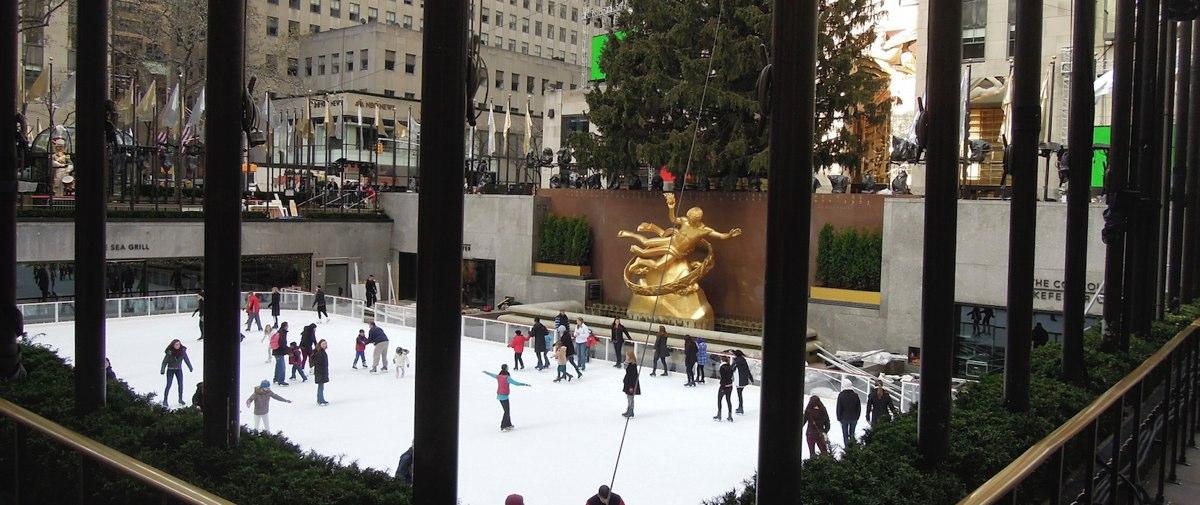 New York Ice Skating Rockefeller Center