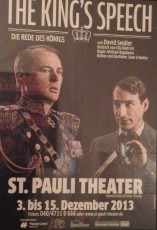 The King's Speech im St Pauli Theater in Hamburg