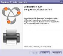 Bonjour Drucker Assistent unter Windows