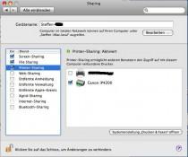 Druckerfreigabe am MAC einrichten