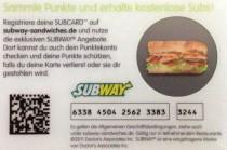 Subway Kundenkarte
