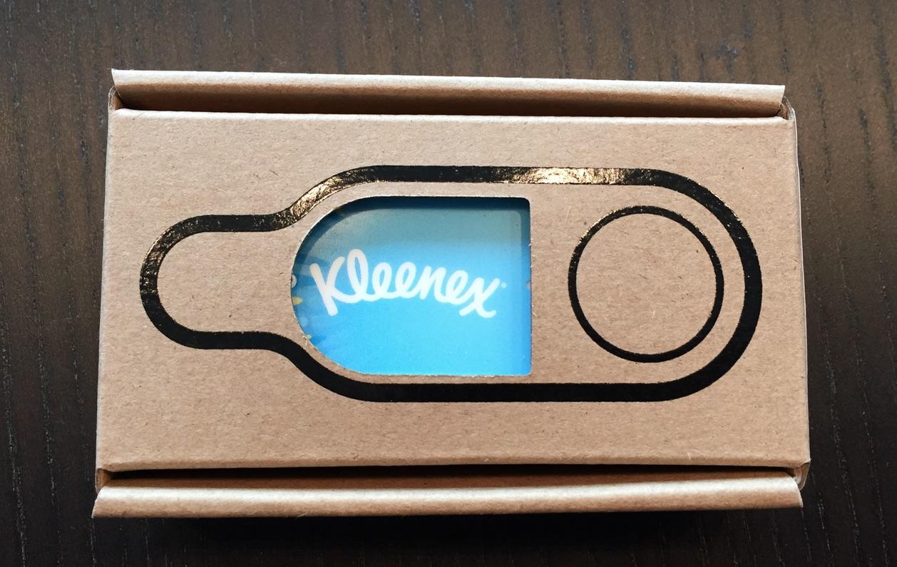 amazon dash button karton kleenex