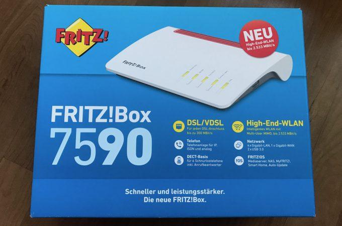 AVM Fritzbox 7590 Verpackung
